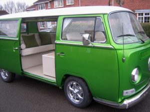 Metallic Green Campervan Interior and Seat Retrim CCR Auto Trim Loughborough