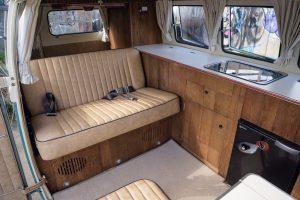 Volkswagen Campervan Interior Service Built in Wooden TV Stand Cabinet CCR Auto Trim