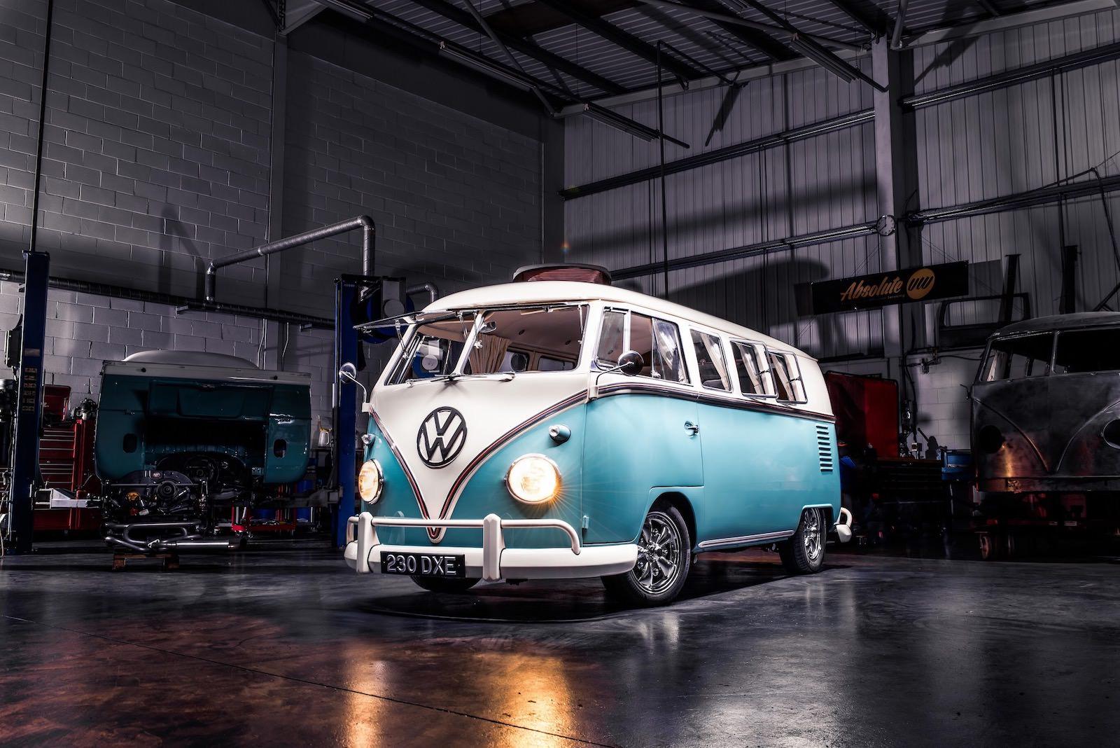 Blue Volkswagen Split Screen