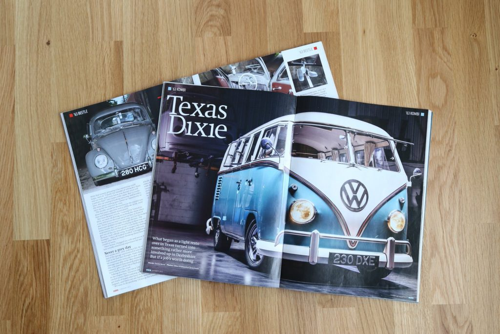 Custom Classic Retro CCR Auto Trim VW Volkswagen Campervan Specialist Interior Seat Repair Retrim Magazine Feature